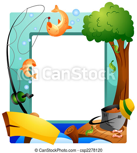 Stock illustration of fishing frame csp2278120 search for Fish photo frame