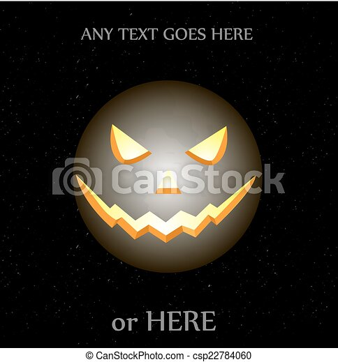 Evil Moon Drawings Evil Moon Halloween Vector