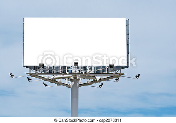 Blank billboard, just add your text - csp2278811
