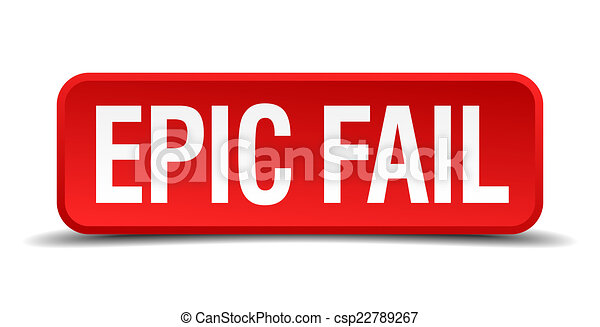 Epic Fail Clipart Epic Fail Red 3d Square Button