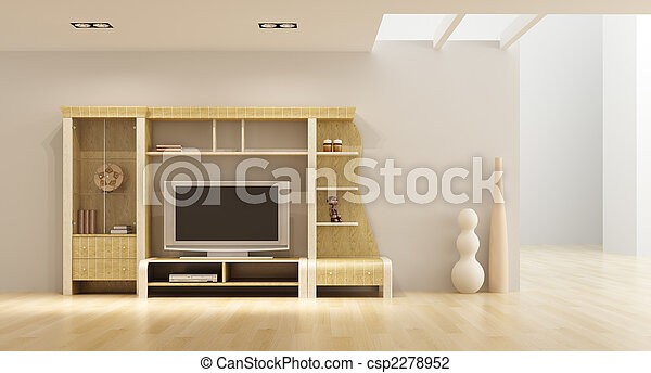 Photo salon salle int rieur tag re tv image for Etagere sous tv