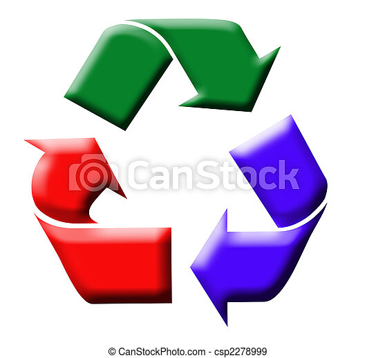 Colorful recycling symbol - csp2278999
