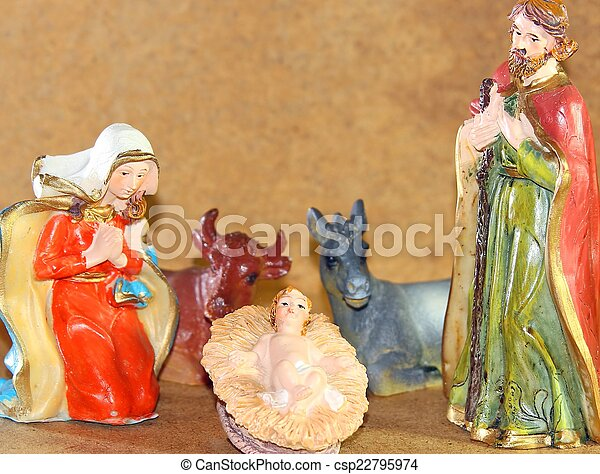 Stock photo baby jesus in the manger of the crib stock image