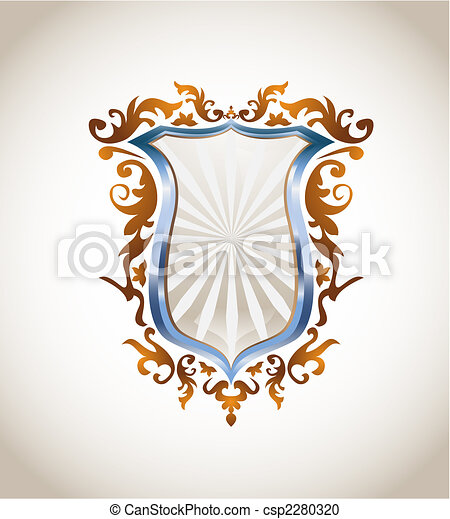 Metallic shield with ornament - csp2280320