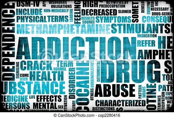 Blue Drug Addiction - csp2280416