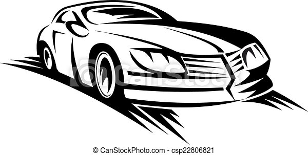 Vector Illustration Of Moving Car - Fast Moving Car For Race Sports Design Csp22806821 - Search ...