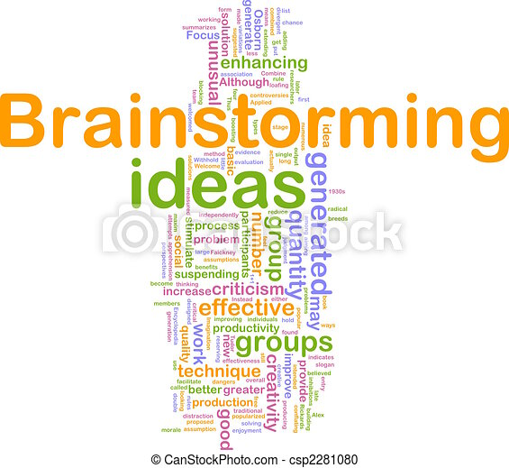 Brainstorming word cloud - csp2281080