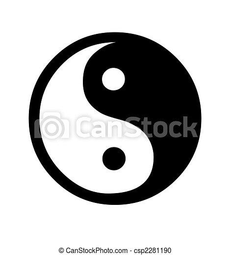 Yin and Yang symbol - csp2281190
