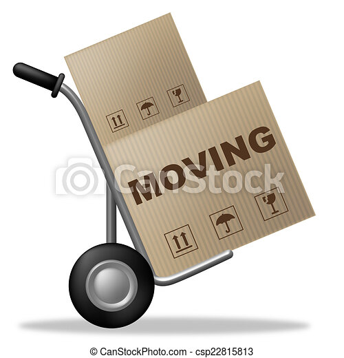 Clipart of Moving House Indicates Buy New Home And Box - Moving ...