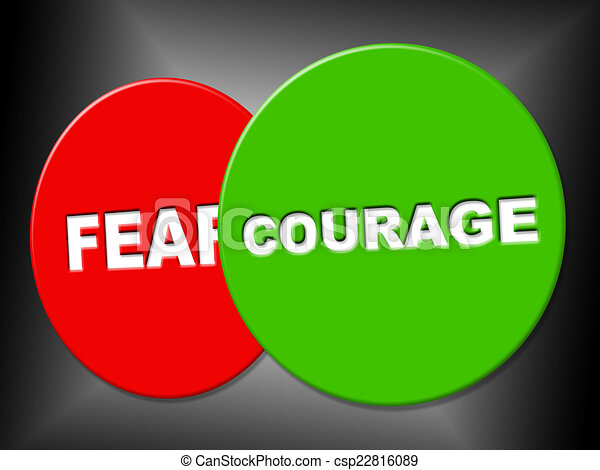 Stock Illustration of Courage Sign Means Spine Spirit And ...