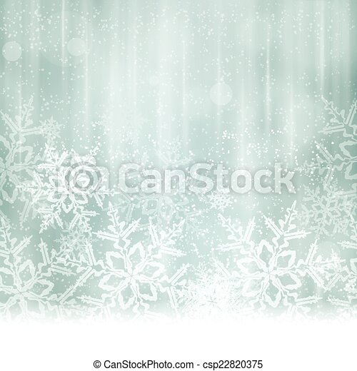 Abstract silver blue Christmas, winter background - csp22820375