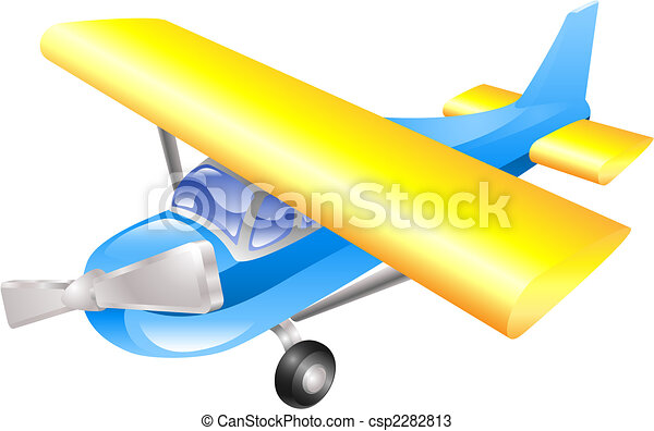 Aeroplane cartoon - csp2282813