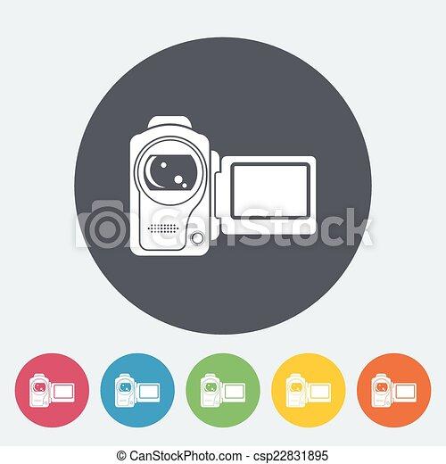 矢量-视频, 照相机, 单一