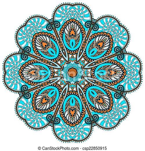 spiritual indian symbol of lotus... csp22850915 - Search Clipart ...
