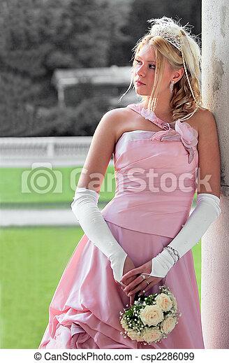 Beautiful young bride - csp2286099