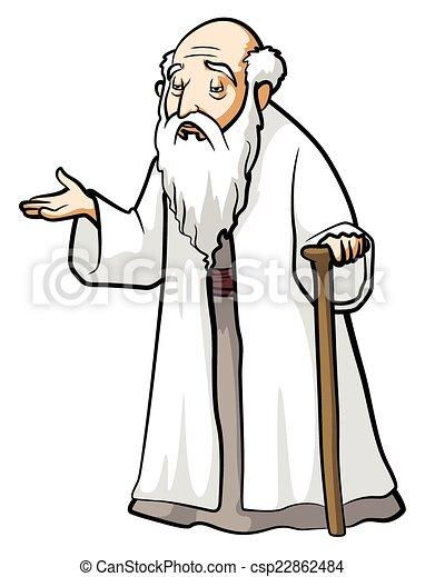 Vecteur de vieux, sage, homme - Old, Wise, Man csp22862484