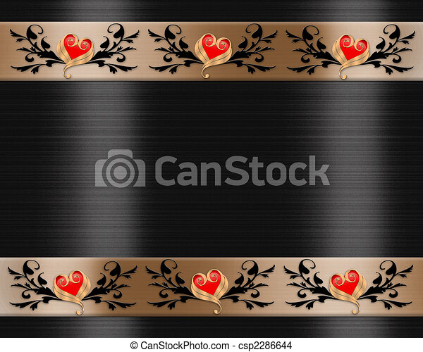 Wedding Invitation Elegant Borders - csp2286644