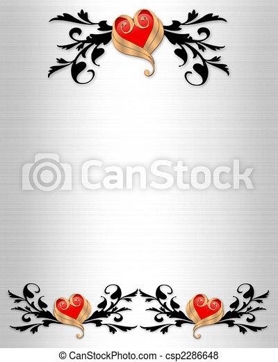 Wedding Invitation Elegant Borders - csp2286648