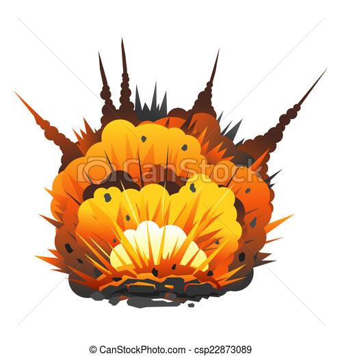 Illustration de grand bombe dessin anim explosion - Dessin anime boom ...