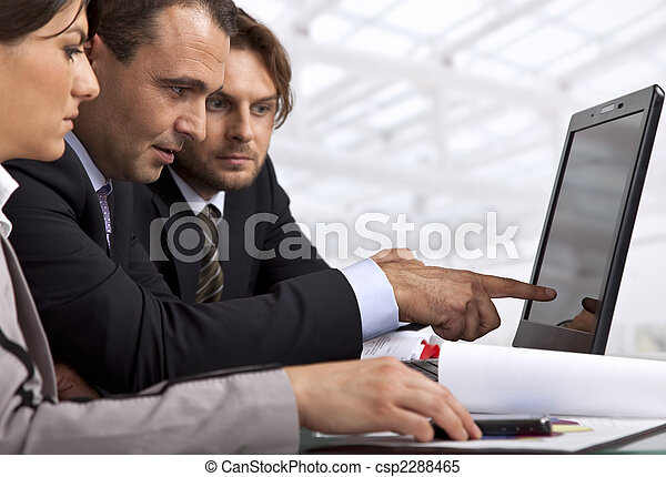 three business people working - csp2288465