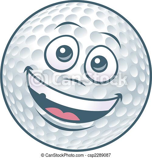 Cartoon Golf Ball Character - csp2289087