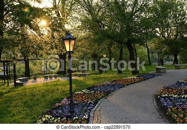 Green parks in Poland - csp22891570