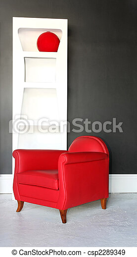 Red armchair - csp2289349