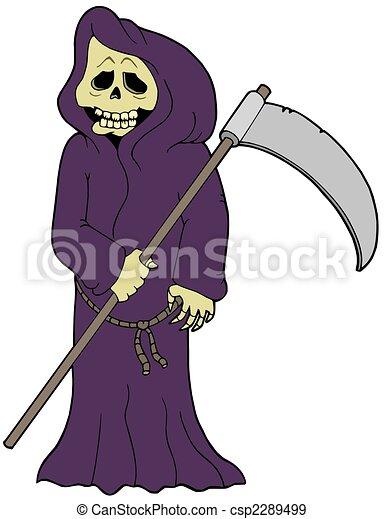 Cartoon grim reaper - csp2289499