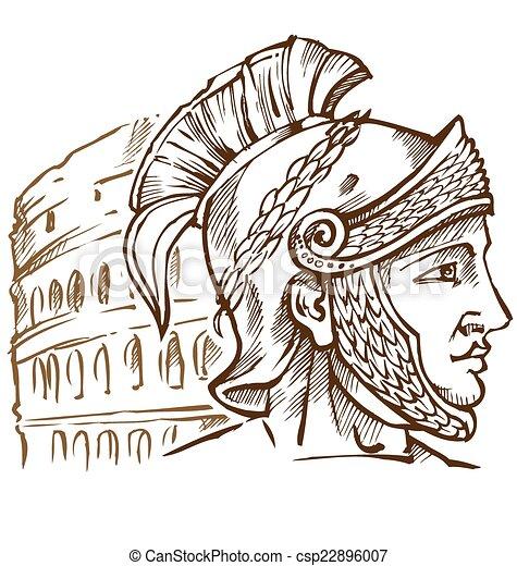 Clipart vettoriali di guerriero romano colosseo fondo for Colosseo da colorare