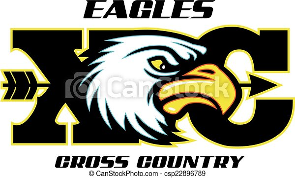 Vector of eagles cross country design with mascot head csp22896789 ...