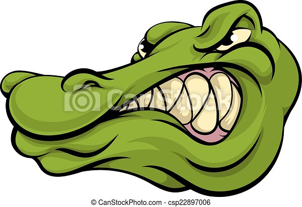 Alligator or crocodile mascot - csp22897006