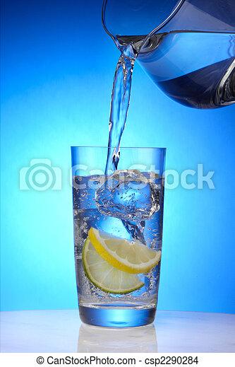 Refreshing glass of water - csp2290284