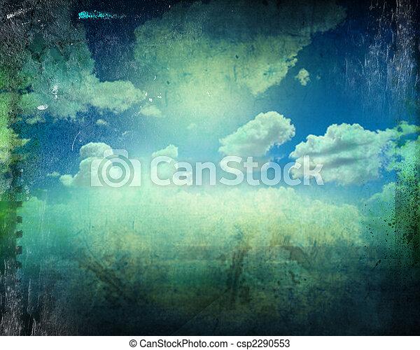 retro image of cloudy sky - csp2290553