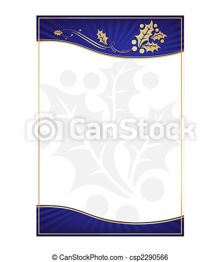 Exotic Blue Holly Adorned Gift Card or Label - csp2290566