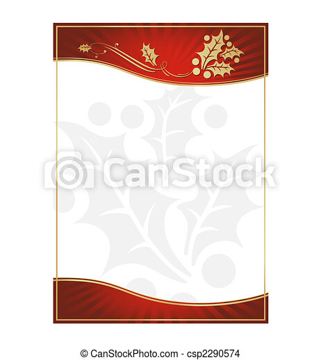 Exotic Green Holly Adorned Gift Card or Label - csp2290574