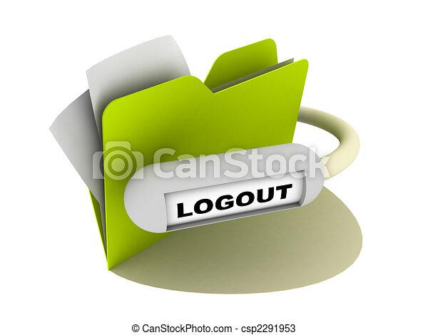 Logout Button Logo Logout Button Csp2291953