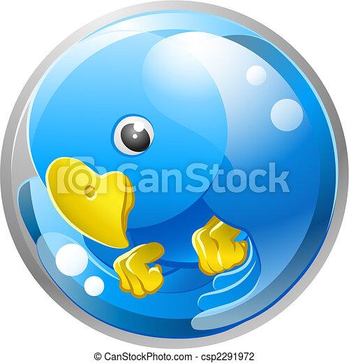 Blue bird twitter ing icon - csp2291972