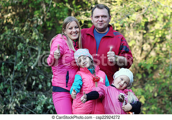 family in the park - csp22924272