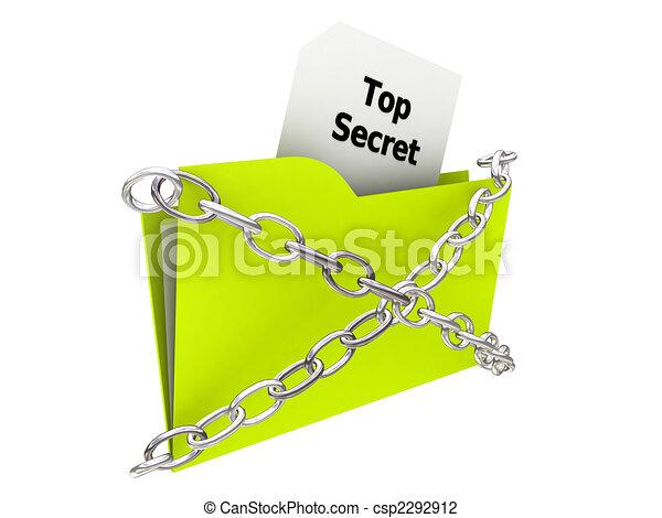 top secret folder - csp2292912