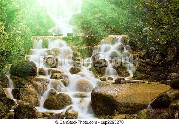 Waterfall in a forest - csp2293270