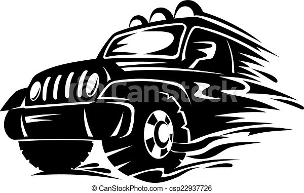 Vector Illustration of Crossover car for extreme sports design ...
