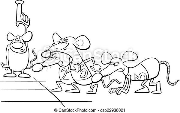 rat race cartoon coloring book - csp22938021