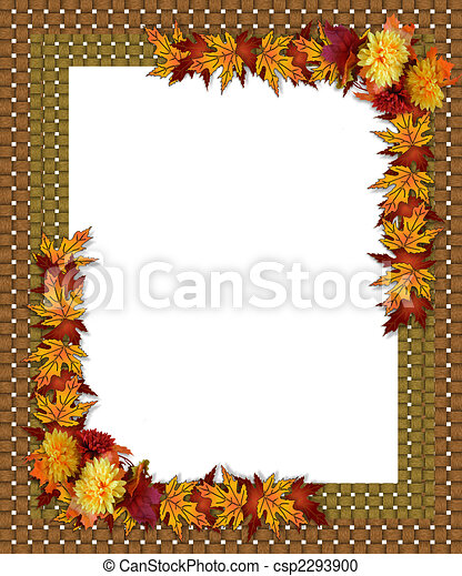 Thanksgiving Fall Autumn Border - csp2293900