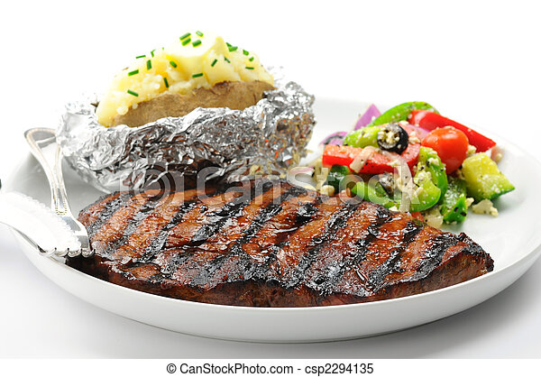 Stock Photo - Grilled Steak - stock image, images, royalty free photo ...