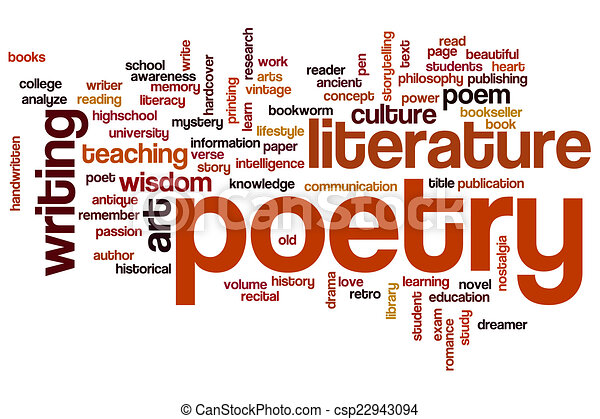 Stock Illustration of Poetry word cloud concept csp22943094 ...