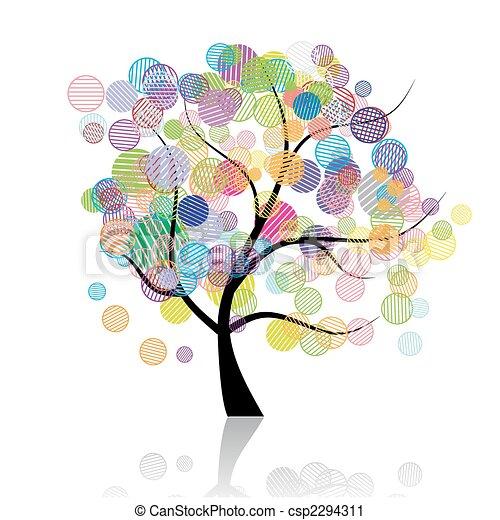 Art tree fantasy - csp2294311