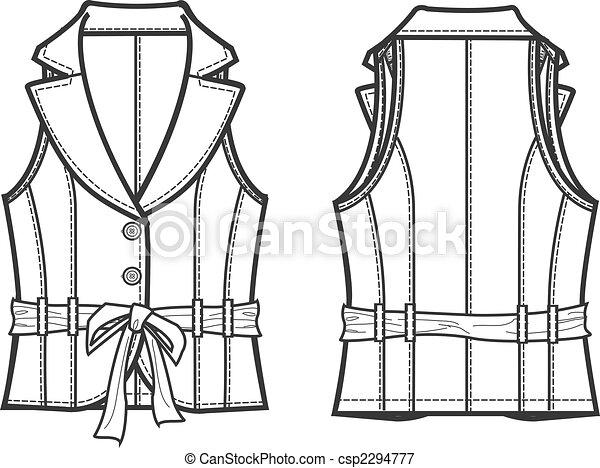 Lady Formal Vest Jacket 2294777
