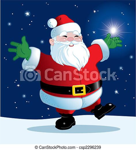 Joyful Santa - csp2296239