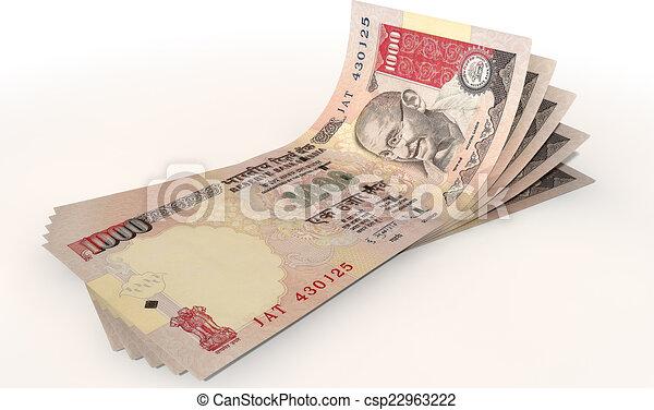 Rupee Note Vector Rupee Bank Notes Spread a