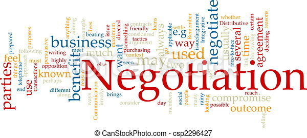 Negotiation word cloud - csp2296427